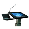 ILS22M lectern with notebook on side table